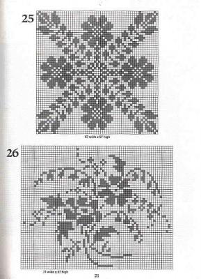 вяжем картины крючком филейное вязание схемы образцы.